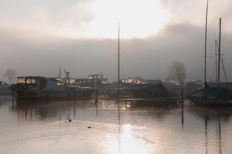 Hafen im Herbst